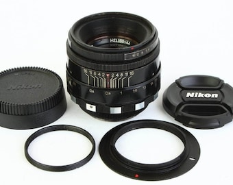 Helios 44 Zebra Lens for Nikon F mount INFINITY IS! 2/58 mm f/2 M39 58mm Russian Soviet Made in USSR Vintage Photo Portrait Bokeh lens 44-2
