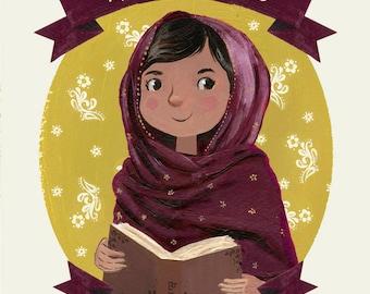 Malala Yousafzai Print - Female Role Models Series - Women of History