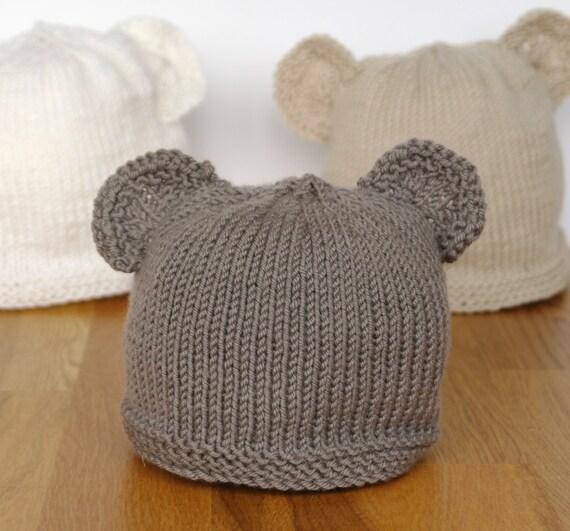 Knit Pattern Baby Bear Hat Stitch Me Softly Sleepy Polar Bear Hat