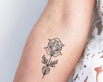 lotus tattoo etsy. Black Bedroom Furniture Sets. Home Design Ideas