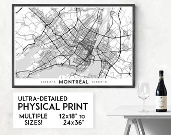 Every Road in Montreal map poster, Montreal print, Montreal map print, Canada map, Montreal city map, Montreal poster, Montreal wall art