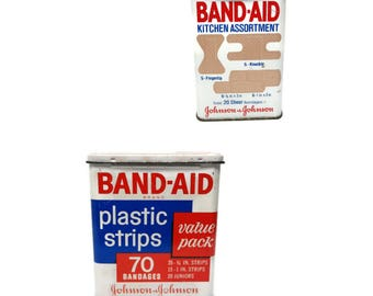 70's metal band-aid strips tin can | instant collection