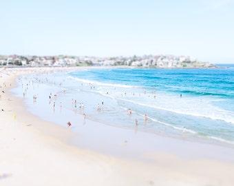 Bondi Beach Print, Bondi Beach Photograph, Beach Photography, Aerial Beach Photography, Beach Print, Bondi Beach Art, Beach Home Decor