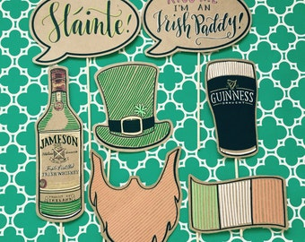 Handmade Irish/St.Patricks Day Photo Prop Set of 7pcs