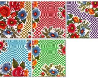 OilclothByTheYard   Optical Floral     Your choice of Color