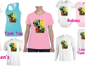 Sesame street T shirt sesame street birthday personalize T shirt characters authentic vintage  cool T -shirt, kids sizes