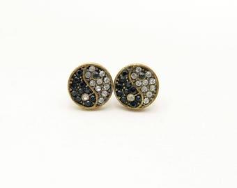 Earrings yinyang, Stud yinyang