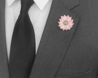 Mens Lapel Pin, Gentlemans Gift, Mens Fashion Gift, Pink Lapel Pin for Men, Gift for Dad, Gift for Boyfriend, Mens Gifts