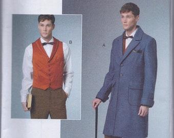 Butterick 6502 Men's Early 20th Century Edwardian Coat Vest UNCUT Sewing Pattern