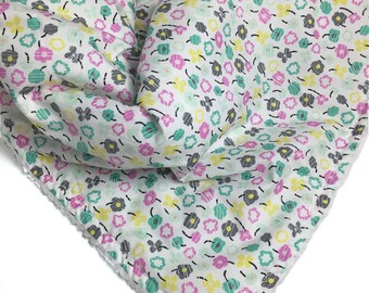 Girl Baby Bedding - Teal - Baby Bedding - Floral