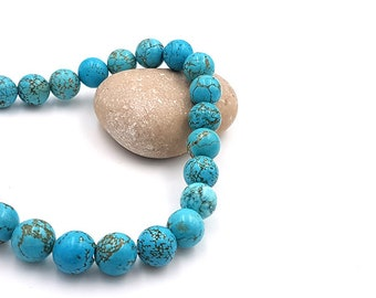 38 round Turquoise beads 10mm natural