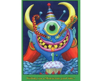 "Birthday card- ""Monstrous Birthday"""