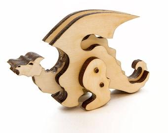 Wooden Dragon Toy - Kit