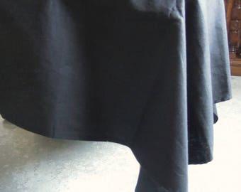 Black Tablecloth, Hemp, 58x95, Large Black Tablecloth, Organic Tablecloth, Table Linens