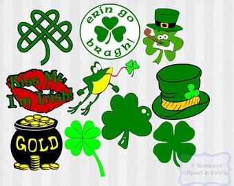 St Patricks day SVG, St Patricks day clipart, shamrock svg, st patricks svg, pinch proof svg, shamrock clipart, kiss me Im irish, svg files