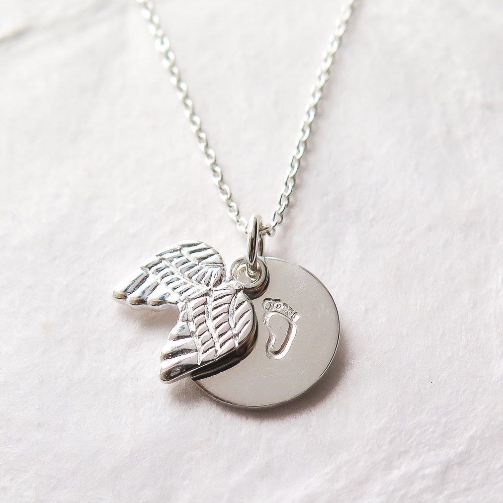 angel loss personalized miscarriage her gift memorial listing il wing necklace for fullxfull