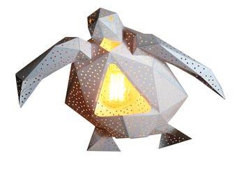 Sea turtle paper lamp shade natural lamps geometric lamp sea turtle geometric lamp origami lampshade paper lantern modern pendant light natural lamps paper lamp shade design hanging lamp aloadofball Choice Image