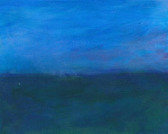 Horizon 1 acrylic painting on canvas board semi-abstract seascape