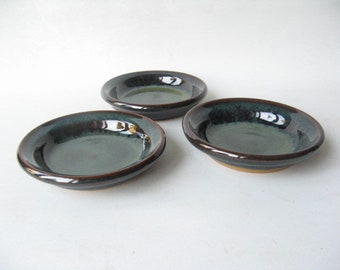 Small Pottery Plates, Sushi Dipping Plates, Condiment Plates