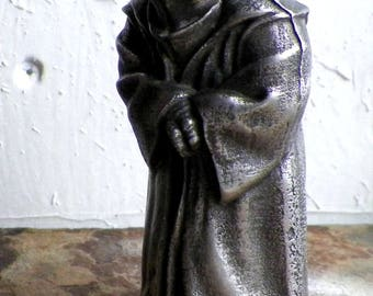 Hand cast Wise One Pewter Statuette