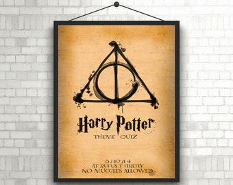 Harry Potter Parchment Artwork Poster