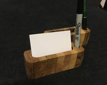 Reclaimed Pallet Wood Business Card Holder