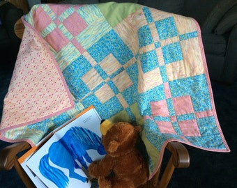 Multi-Color Blanket II, Multi-Color Playmat, Quilted Playmat, Lap Blanket