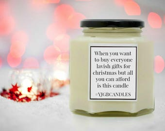Funny christmas gift etsy when you want to buy lavish gifts for everyone for christmas but all you can afford is this candle funny christmas gift candles negle Images