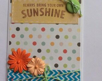 Sunshine Handmade Card Set, Sunshine Card, Handmade All Occasion Card, Any Occasion, You Are My Sunshine