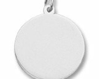Sterling Silver Disc Charm by Rembrandt