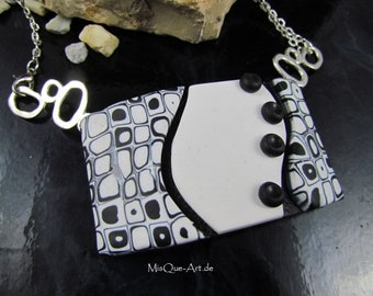 Modern black and White pendant No. 1