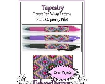 Bead Pattern Peyote(Pen Wrap/Cover)-Tapestry