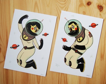 "2 prints ""Astronauts"""