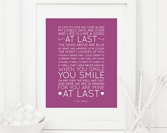 Wedding song lyrics picture diy anniversary gift wannabe crafty