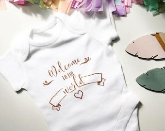 Welcome baby best, new baby vest, Welcome to the world vest, new baby clothes, newborn baby vest, welcome baby vest, new baby shower