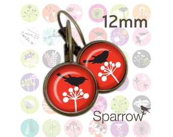 Funky Forest - 12mm x 12mm Round Earring and Pendant Images - Buy 2 Get 1 Free - Instant Download - Digital Sheet - Automatic Download
