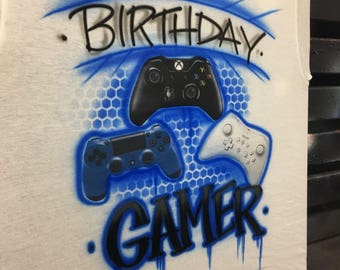Gamer birthday shirt, video game birthday, Playstation 4 birthday shirt , video game birthday party shirt, playstation 4 party, gamer shirt