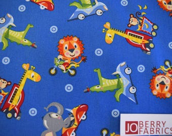 Safari Animal from the Safari Drive Collection by Tim Beaumont for Studio E.  Quilt or Craft Fabric, Fabric by the Yard.
