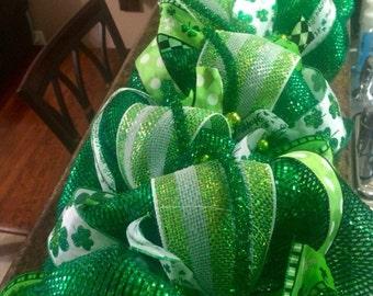 St. Patrick's Day Garland -  Irish Garland - Green Garland - St. Patrick's Day Mantel Decor - Whimsical Shamrock Garland