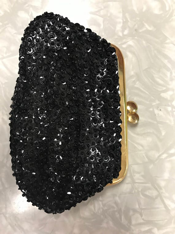 Back coin purse black sequins