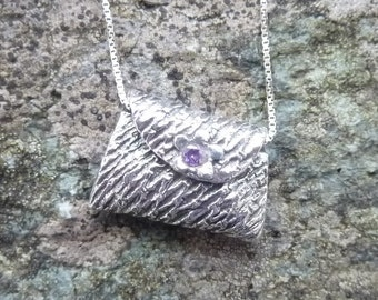 Fine Silver Handbag Pendant