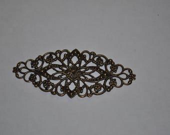 Antique Bronze Oval Filigree