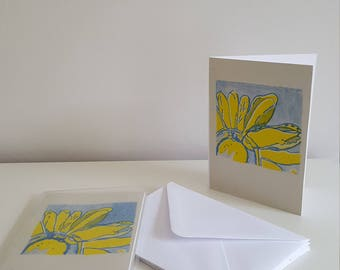 Flower greeting cards X5 - A6 size