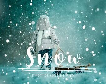 55 Snow Photoshop Overlays