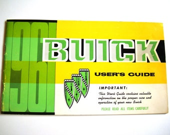 1961 BUICK User's Guide GM LeSabre Owners Manual General Motors Oshawa Canada Car Auto Care Operation Maintenance Operating Instructions