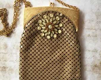 Latte anyone? A vintage assemblage purse, repurposed jewelry, evening purse