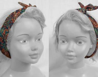 Headband  Bandeau Cheveux Turban Kaschmir Bohème Romantique