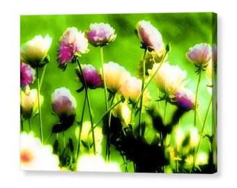 Summer greenness / wall art canvas print