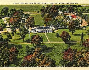 Mount Vernon, Virginia, George Washington, Home - Vintage Postcard - Postcard - Unused (C1)