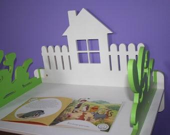 Wooden Shelf, Montessori Shelves, Rabbit Shelf, Toddler Shelf, Eco Friendly, Waldorf, Shelf Table - Two In One